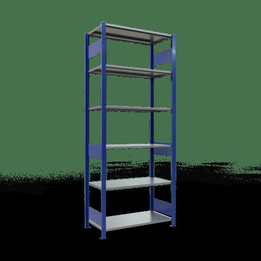 Steckregal Grundregal  2500x1000x500 mm, Fachlast 85 kg mit Längenriegel SCHULTE Lagertechnik