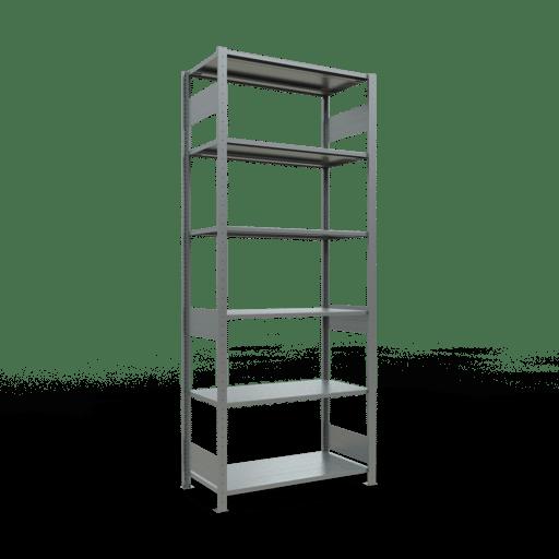 Steckregal Grundregal  2500x1000x500 mm,Fachlast 85 kg Rahmen montiert mit Längenriegel SCHULTE Lagertechnik