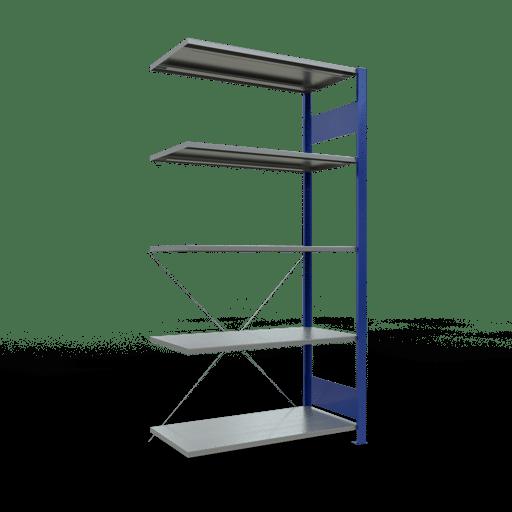 Steckregal Anbauregal 2000x1000x500 mm Fachlast 85 kg Rahmen montiert 5 Fachböden SCHULTE Lagertechnik
