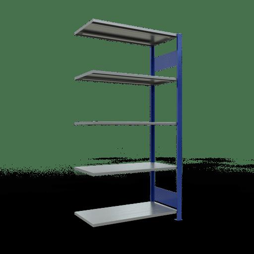 Steckregal Anbauregal  2000x1000x500 mm, Fachlast 85 kg Rahmen montiert mit Längenriegel SCHULTE Lagertechnik
