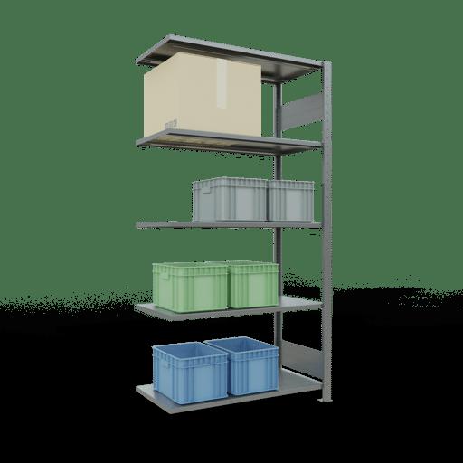 Steckregal Anbauregal  2000x1000x500 mm, Fachlast 85 kg mit Längenriegel SCHULTE Lagertechnik