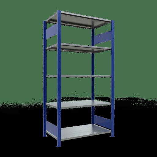 Steckregal Grundregal  2000x1000x600 mm, Fachlast 85 kg mit Längenriegel SCHULTE Lagertechnik