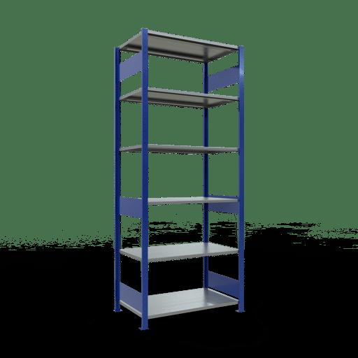 Steckregal Grundregal  2500x1000x600 mm, Fachlast 85 kg Rahmen montiert mit Längenriegel SCHULTE Lagertechnik