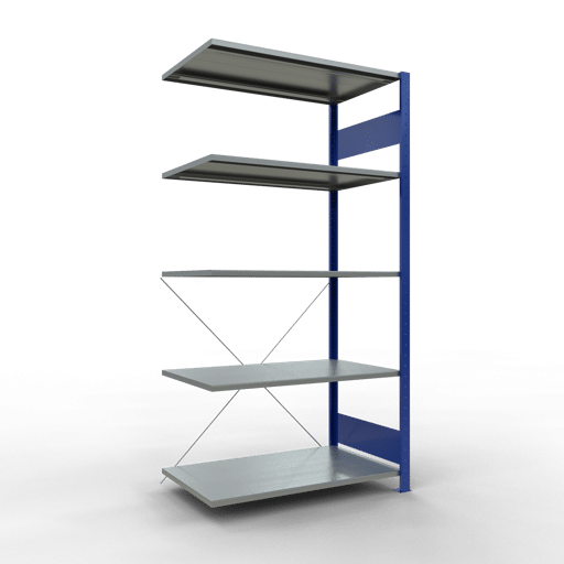 Steckregal Anbauregal 2000x1000x600 mm Fachlast 85 kg Rahmen montiert 5 Fachböden SCHULTE Lagertechnik