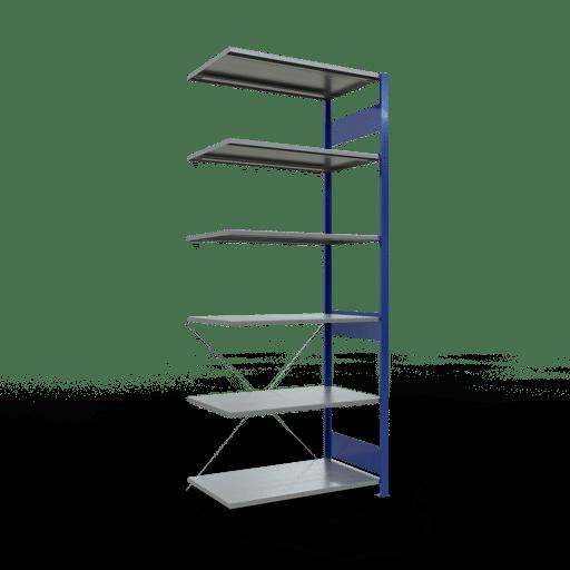 Steckregal Anbauregal 2500x1000x600 mm Fachlast 85 kg Rahmen montiert 6 Fachböden SCHULTE Lagertechnik
