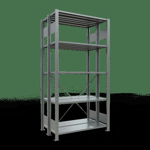 Doppelregal Grundregal Stecksystem 2000x1000x300 mm verz. 2×5 Fachböden 150 kg Fachlast SCHULTE Lagertechnik