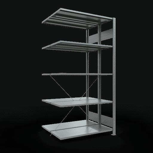 Doppelregal Anbauregal Stecksystem 2000x1000x2x400 mm 2×5 Fachböden Rahmen montiert 150 kg Fachlast SCHULTE Lagertechnik