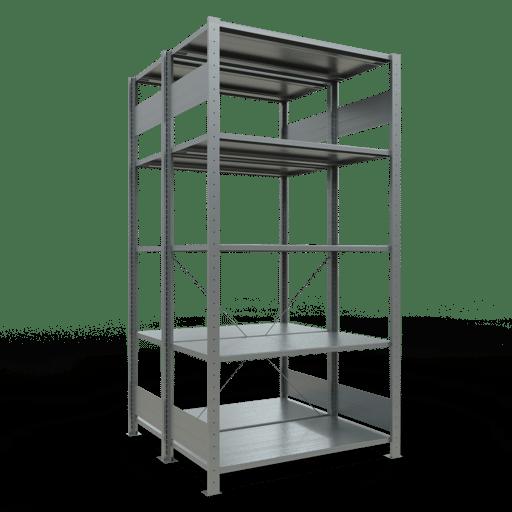 Doppelregal Grundregal Stecksystem 2000x1000x2x500 mm verz.2×5 Fachböden 150 kg Fachlast SCHULTE Lagertechnik