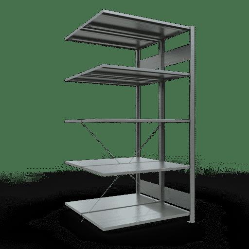 Doppelregal Anbauregal Stecksystem 2000x1000x2x500 mm 2×5 Fachböden 150 kg Fachlast SCHULTE Lagertechnik