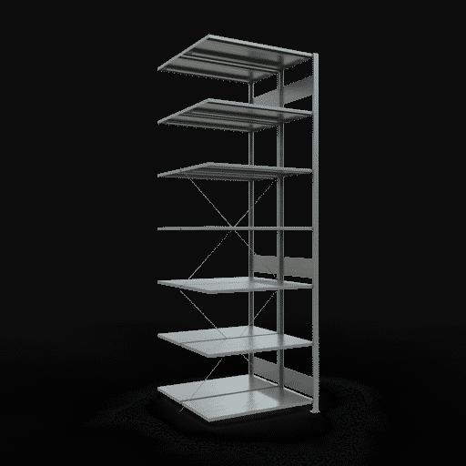Doppelregal Anbauregal Stecksystem 3000x1000x2x500 mm 2×7 Fachböden 150 kg Fachlast SCHULTE Lagertechnik