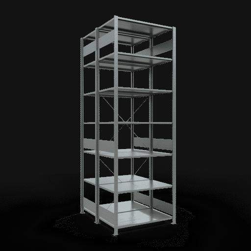 Doppelregal Grundregal Stecksystem 3000x1000x2x600 mm verz.2×7 Fachböden 150 kg Fachlast SCHULTE Lagertechnik