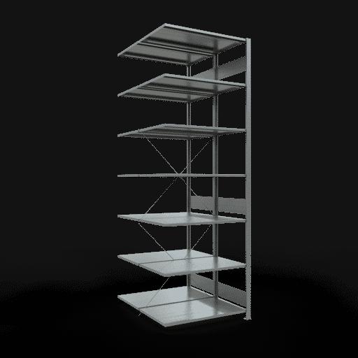 Doppelregal Anbauregal Stecksystem 3000x1000x2x600 mm 2×7 Fachböden 150 kg Fachlast SCHULTE Lagertechnik