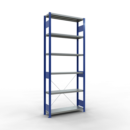 Steckregal Grundregal 2500x1000x300 mm Fachlast 330 kg Rahmen montiert 6 Fachböden SCHULTE Lagertechnik