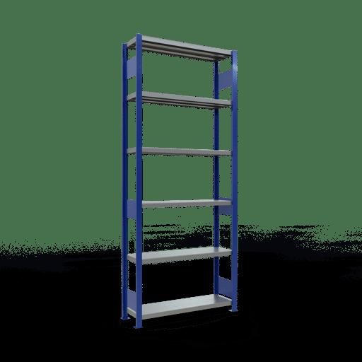 Steckregal Grundregal  2500x1000x300 mm,  Fachlast 330 kg Rahmen montiert mit Längenriegel SCHULTE Lagertechnik