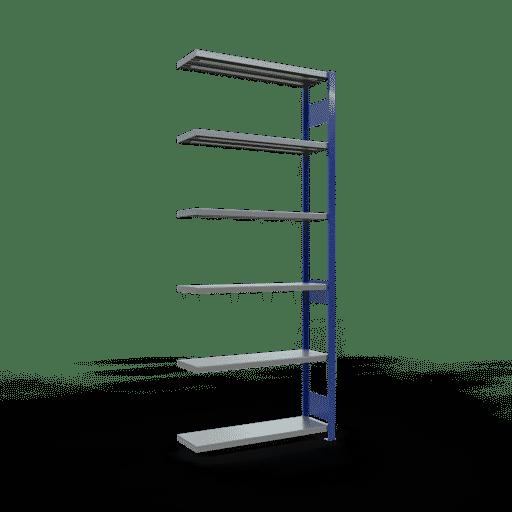 Steckregal Anbauregal  2500x1000x300 mm,  Fachlast 330 kg mit Längenriegel SCHULTE Lagertechnik