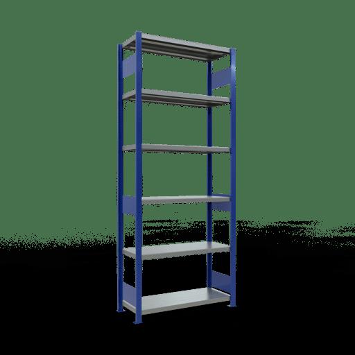 Steckregal Grundregal  2500x1000x400 mm,  Fachlast 330 kg mit Längenriegel SCHULTE Lagertechnik