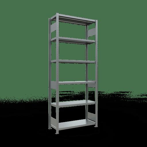 Steckregal Grundregal  2500x1000x400mm, 330  Rahmen montiert mit Längenriegel SCHULTE Lagertechnik