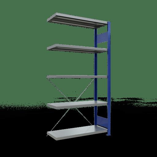 Steckregal Anbauregal 2000x1000x400 mm Fachlast 330 kg Rahmen montiert 5 Fachböden SCHULTE Lagertechnik