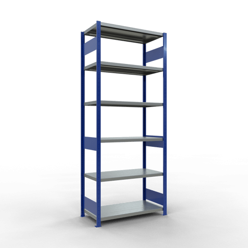 Steckregal Grundregal  2500x1000x500 mm,  Fachlast 330 kg mit Längenriegel SCHULTE Lagertechnik
