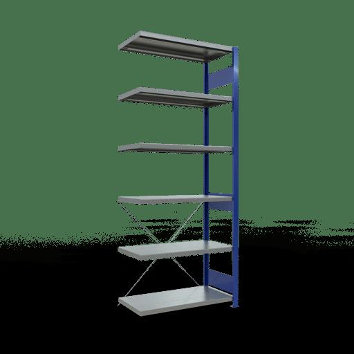 Steckregal Anbauregal 2500x1000x500 mm Fachlast 330 kg Rahmen montiert 6 Fachböden SCHULTE Lagertechnik