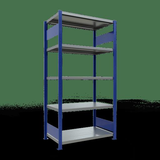 Steckregal Grundregal  2000x1000x600 mm,  Fachlast 330 kg Rahmen montiert mit Längenriegel SCHULTE Lagertechnik