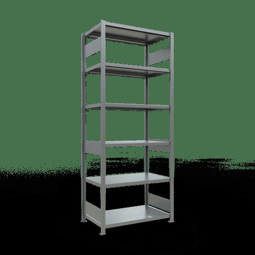 Steckregal Grundregal  2500x1000x600mm, Fachlast 330 kg Rahmen montiert mit Längenriegel SCHULTE Lagertechnik