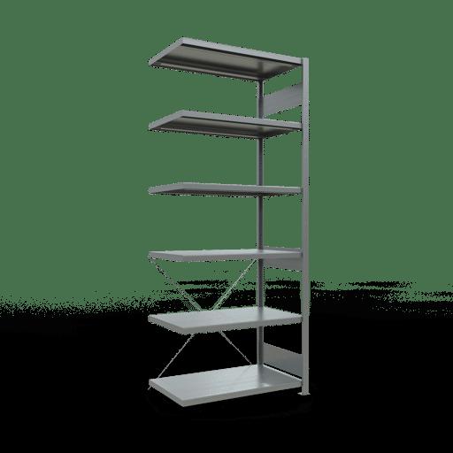 Steckregal Anbauregal 2500x1000x600 mm Fachlast 330 kg Rahmen montiert 6 Fachböden SCHULTE Lagertechnik