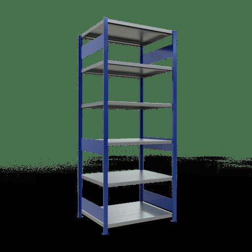 Steckregal Grundregal  2500x1000x800 mm,  Fachlast 330 kg mit Längenriegel SCHULTE Lagertechnik