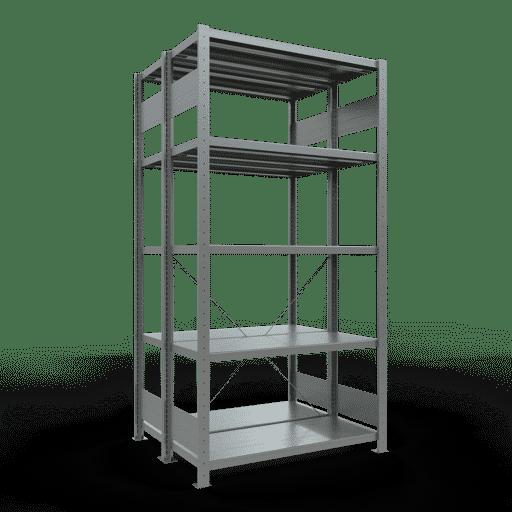 Doppelregal Grundregal Stecksystem 2500x1000x2x400 mm 2×6 Fachböden 250 kg Fachlast SCHULTE Lagertechnik