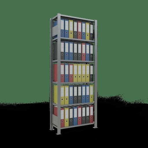 Steckregal Büroregal Grundregal 2000x750x300 mm Fachlast 85 kg mit Anschlagleiste Rahmen montiert SCHULTE Lagertechnik