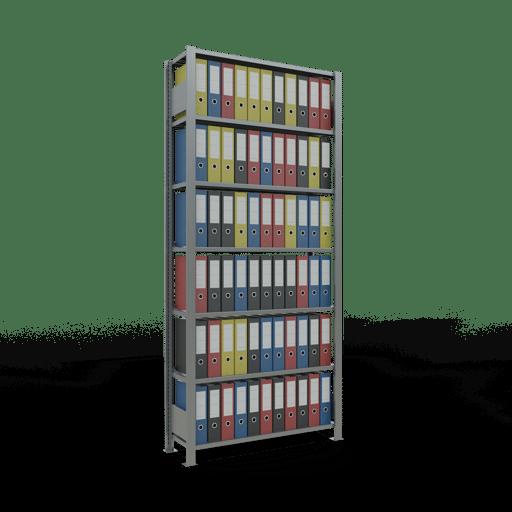 Steckregal Büroregal Grundregal 2300x1000x300 mm Fachlast 85 kg mit Anschlagleiste SCHULTE Lagertechnik