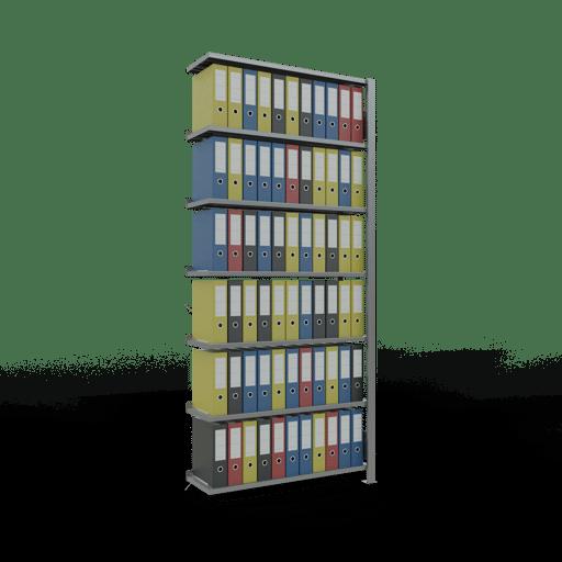 Steckregal Anbauregal SCHULTE Lagertechnik – 2300x1000x300 mm, Typ 85 kg Rahmen montiert