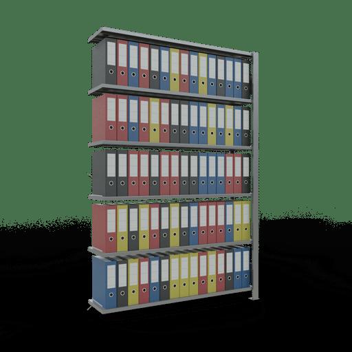 Steckregal Büroregal Anbauregal SCHULTE Stecksystem – 2000x1300x300 mm, Typ 85 kg