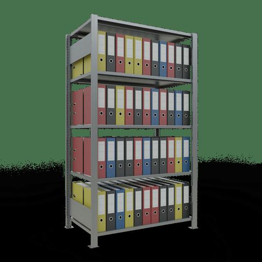 Steckregal Büroregal Grundregal 1800x1000x600 mm Fachlast 150 kg mit Mittelanschlag SCHULTE Lagertechnik