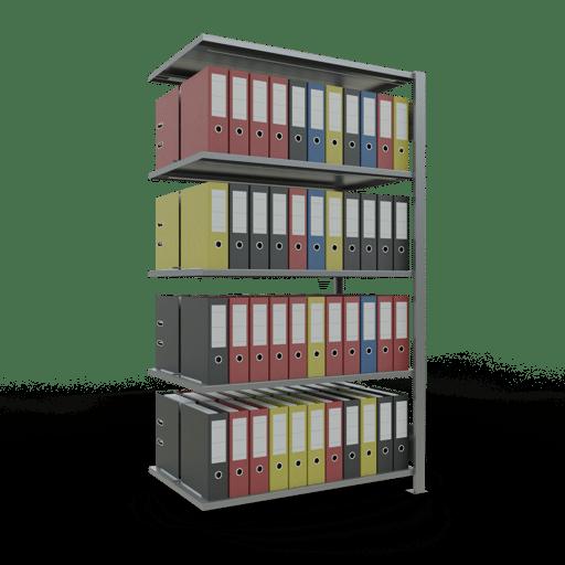 Steckregal Büroregal Anbauregal SCHULTE Stecksystem – 1800x1000x600 mm, Typ 150 kg