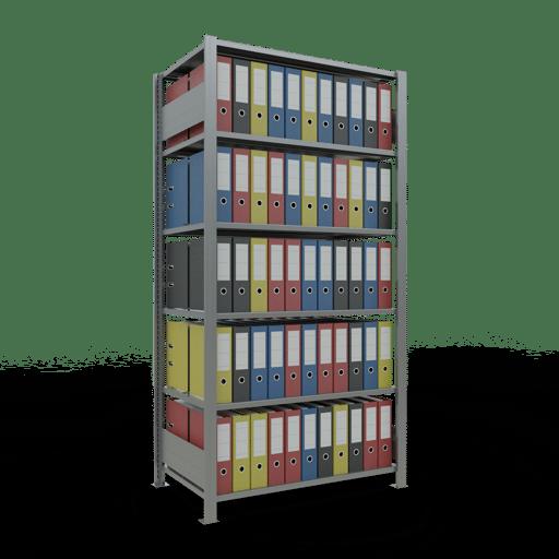Steckregal Büroregal Grundregal 2000x1000x600 mm Fachlast 150 kg mit Mittelanschlag Rahmen montiert SCHULTE Lagertechnik