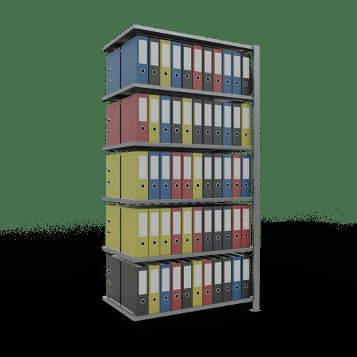 Steckregal Anbauregal SCHULTE Lagertechnik – 2000x1000x600 mm, Typ 150 kg Rahmen montiert