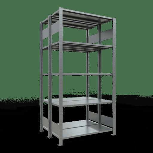 Doppelregal Grundregal Stecksystem 2000x1000x2x400 mm verz.2×5 Fachböden 150 kg Fachlast SCHULTE Lagertechnik