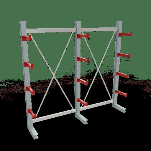 Kragarmregal K3000 Komplettregal 2500x2600x400 mm einseitig SCHULTE Lagertechnik