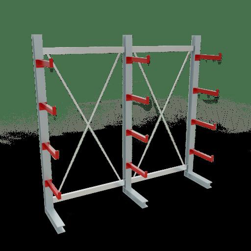 Kragarmregal K3000 Komplettregal 2500x2600x500 mm einseitig SCHULTE Lagertechnik