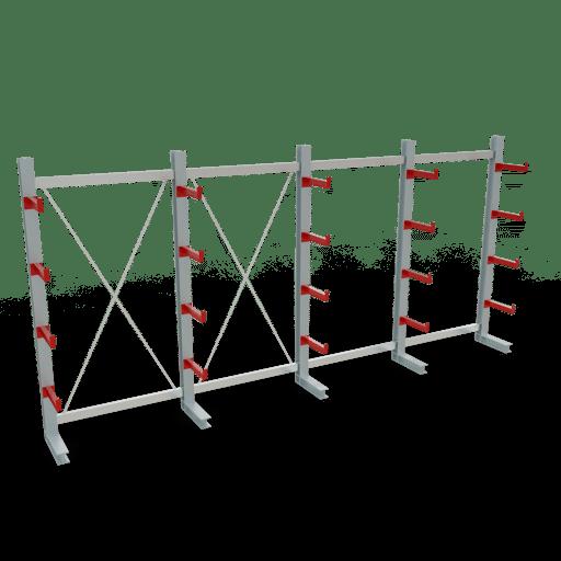 Kragarmregal K3000 Komplettregal 2500x5200x400 mm einseitig SCHULTE Lagertechnik