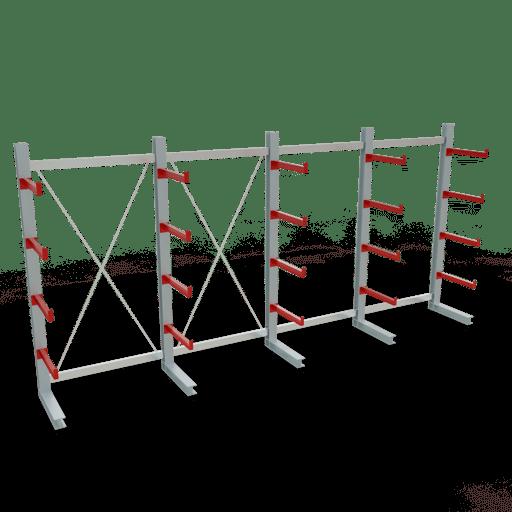 Kragarmregal K3000 Komplettregal 2500x5200x600 mm einseitig SCHULTE Lagertechnik