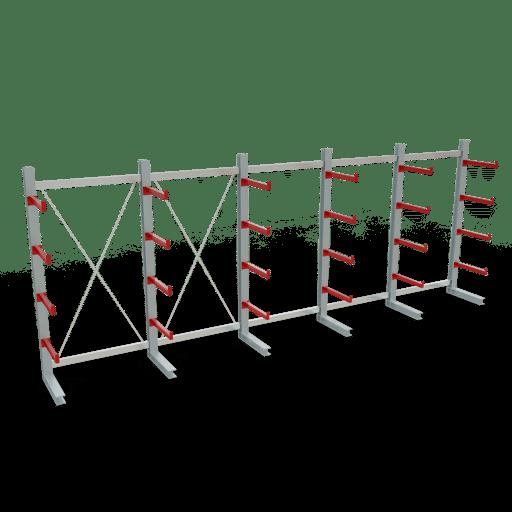 Kragarmregal K3000 Komplettregal 2500x6500x600 mm einseitig SCHULTE Lagertechnik