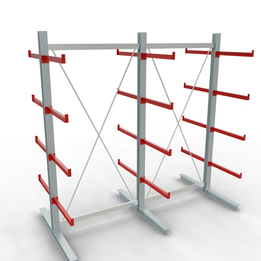 Kragarmregal K3000 Komplettregal 2500x2600x2x400 mm (HxBxT) doppelseitig SCHULTE Lagertechnik