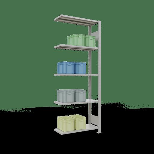 Steckregal Anbauregal  2000x 750×300 mm,  Fachlast 150 kg Rahmen montiert mit Längenriegel SCHULTE Lagertechnik