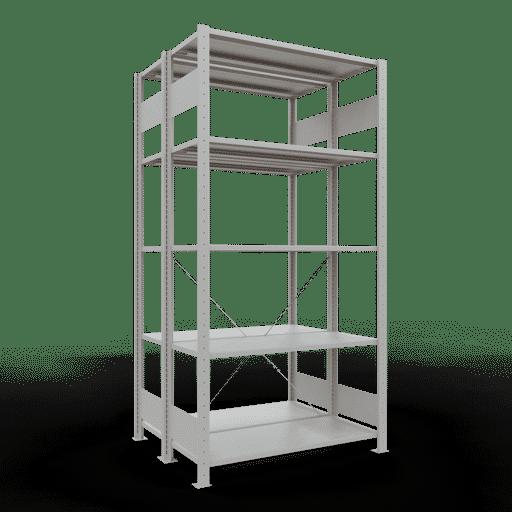Doppelregal Grundregal Stecksystem 2000x1000x2x400 mm 2×5 Fachböden 150 kg Fachlast SCHULTE Lagertechnik