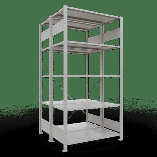 Doppelregal Grundregal Stecksystem 2000x1000x2x500 mm 2×5 Fachböden 150 kg Fachlast SCHULTE Lagertechnik
