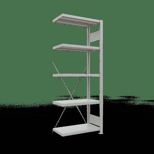 Steckregal Anbauregal  2000x 750×400 mm, Fachlast 250 kg Rahmen montiert mit Längenriegel SCHULTE Lagertechnik