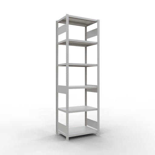 Steckregal Grundregal  2500x1000x500 mm, Fachlast 250 kg Rahmen montiert mit Längenriegel SCHULTE Lagertechnik