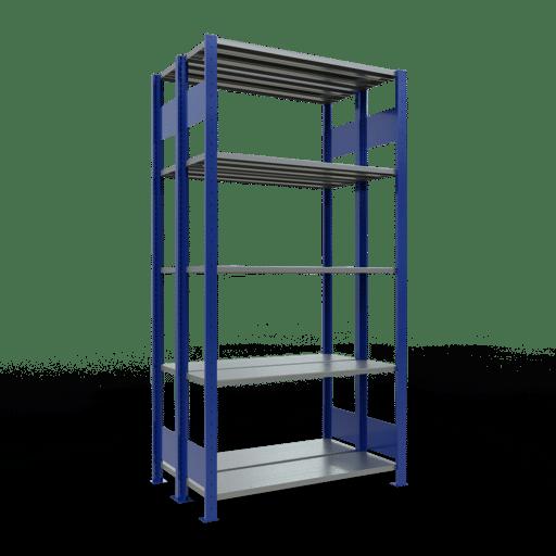 Doppelregal Grundregal Stecksystem 2000x1000x2x300 mm 2×5 Fachböden 150 kg Fachlast SCHULTE Lagertechnik